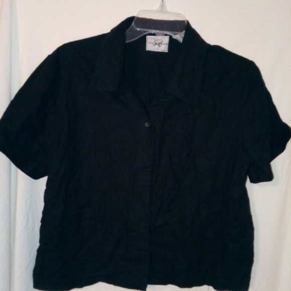 Studio Ease Jackets & Blazers - Studio Ease Black Pocketed Jacket Sz 10